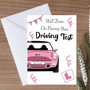 Driving Test Congratulations For Girls Card - White Envelope