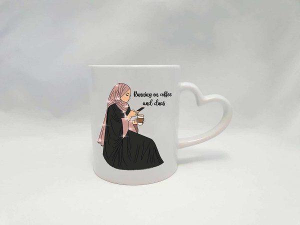 Coffee & Duas Mug Heart Handle