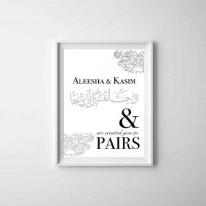 Wedded Couple Print