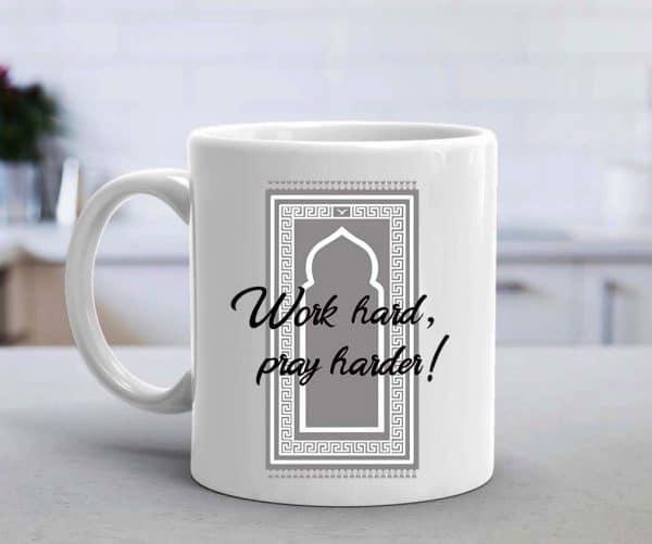 Work Hard Pray Harder Mug - Grey