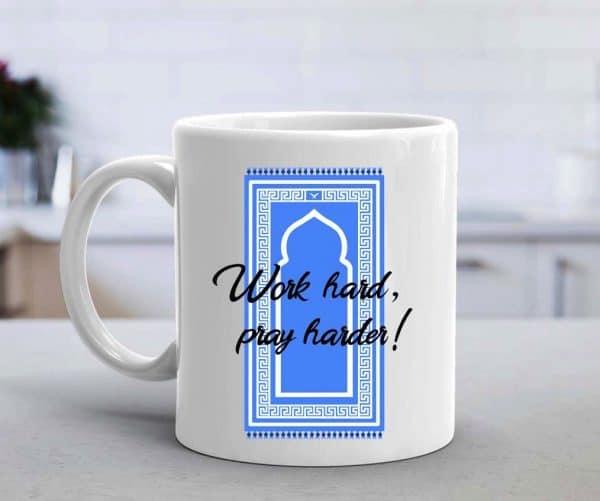 Work Hard Pray Harder Mug - Blue