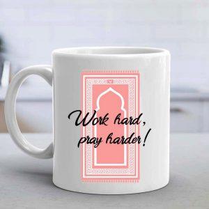 Work Hard Pray Harder Mug - Pink