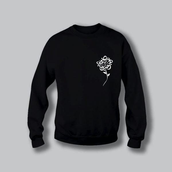 Rose Love Sweatshirt - Black