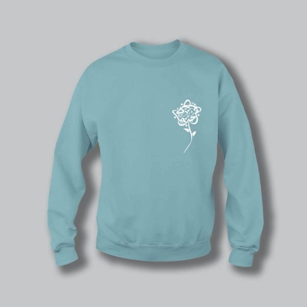 Rose Love Sweatshirt - Light Blue