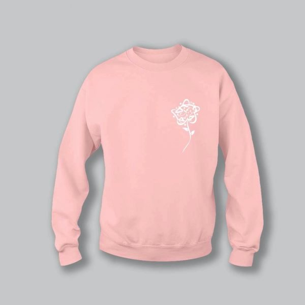 Rose Love Sweatshirt - Light Pink
