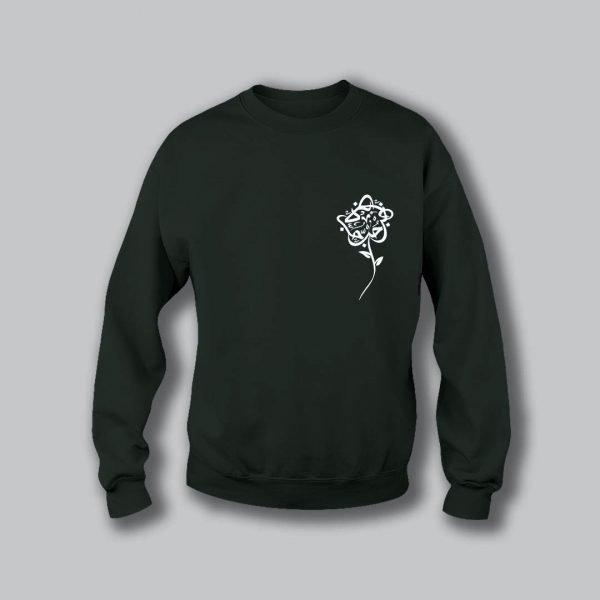 Rose Love Sweatshirt - Military Green