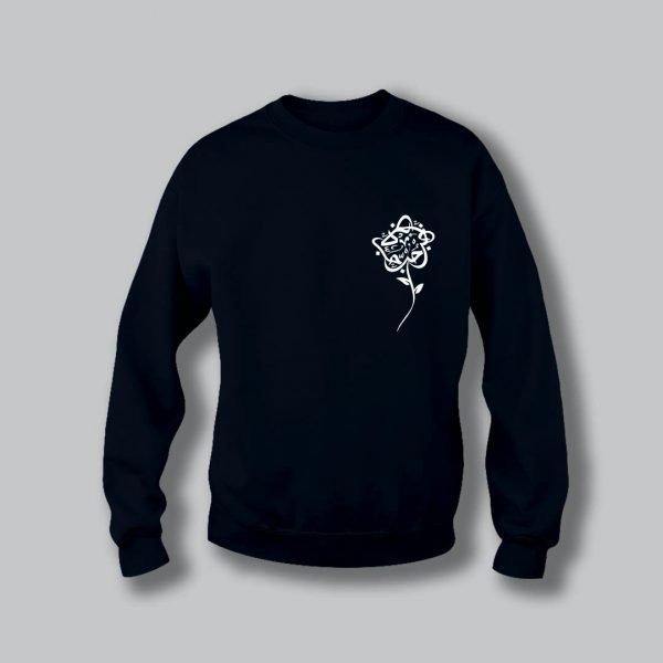 Rose Love Sweatshirt - Navy