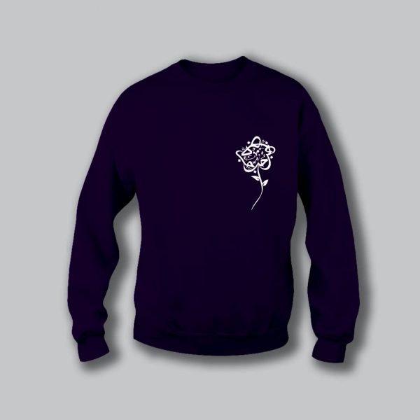Rose Love Sweatshirt - Purple