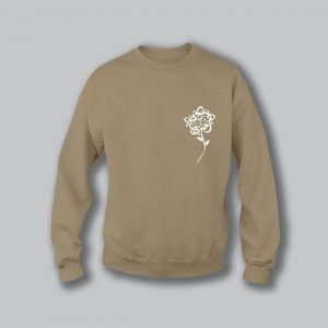 Rose Love Sweatshirt - Sand